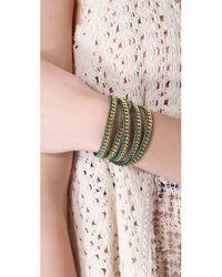 Chan Luu | Green Chain Wrap Bracelet | Lyst
