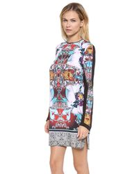 Clover Canyon   Multicolor Sequined Printed Chiffon Dress   Lyst