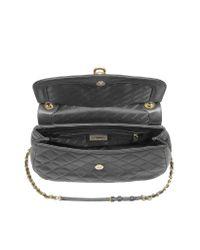 DKNY - Black Quilted Leather Shoulder Bag W/Adjustable Strap - Lyst