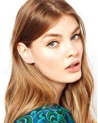 Dogeared - Metallic Exclusive Heart Stud Earrings - Lyst