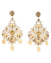 Dolce & Gabbana | Metallic Chandelier Earrings | Lyst