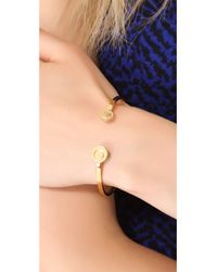 Gorjana - Metallic Alphabet Disc Cuff Bracelet Gold - Lyst
