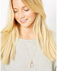 Dogeared - Pink Wishbone Necklace - Lyst