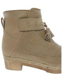 Miista - Natural Hera Flat Leather Boot - Lyst