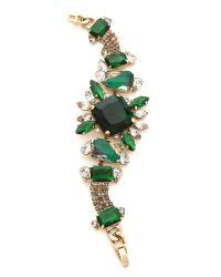 Noir Jewelry | Green Gem Bracelet | Lyst