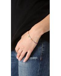 Petite Grand - Metallic Cord Tube and Bead Bracelet - Lyst
