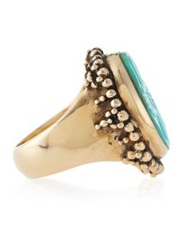 Stephen Dweck - Blue Carved Oval Turquoise Ring 8 - Lyst