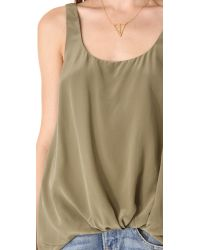 Elizabeth and James - Green Kim Pre Tucked Top - Lyst