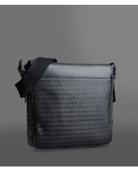 011212fa2b35 Lyst - Emporio Armani Messenger Bag in Black for Men