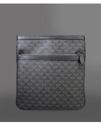 Lyst - Emporio Armani Flat Messenger Bag In Logo Pvc And Saffiano ... d61e2e1169e59