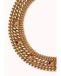 Forever 21 - Metallic Street-Chic Curb Chain Necklace - Lyst