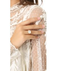 Ginette NY | White Mother Of Pearl Ring | Lyst