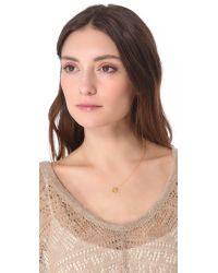 Gorjana - Metallic Birthstone Crystal Necklace - December - Lyst