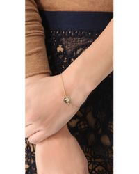 Gorjana - Metallic Alphabet Coin Bracelet - J - Lyst