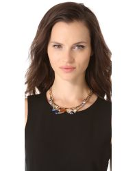 Iosselliani | Metallic Graphic Brass Necklace | Lyst