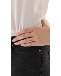 Jacquie Aiche - Metallic Stackable V Ring - Lyst
