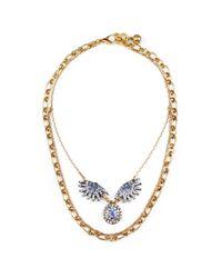 Lulu Frost - Blue Heirloom Sunburst Necklace - Lyst
