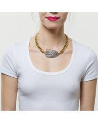 Lulu Frost - Metallic Silvertone Drift Necklace - Lyst