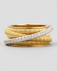 Marco Bicego - Metallic Diamond Cairo 18k Five-strand Ring With Diamond Accent - Lyst