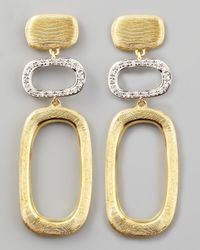 Marco Bicego | Metallic Murano 18K Brushed Gold & Diamond Earrings | Lyst