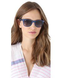 Ray-Ban - Blue Light Force Matte Wayfarer Sunglasses - Lyst