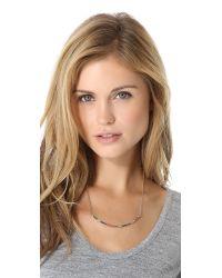 Shashi - Metallic Carlita Bar Necklace - Lyst