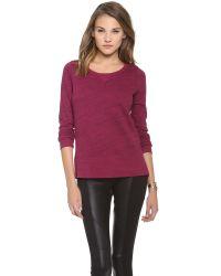 Splendid - Purple Space-dyed Pullover - Lyst
