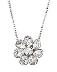 Swarovski - Metallic Renee Flower Crystal Pendant Necklace - Lyst
