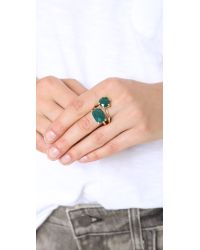 Wouters & Hendrix - Green Agate Stone Ring - Lyst