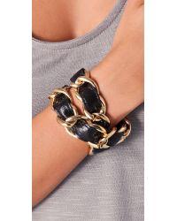CC SKYE - Metallic Double Wrap Woven Bracelet - Lyst