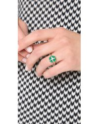 Elizabeth and James | Green Northern Star Cabochon Ring | Lyst