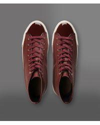 Emporio Armani - Red Hightop Sneaker for Men - Lyst