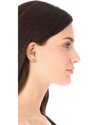 Gorjana - Metallic Sea Stripe Circle Stud Earrings - Lyst