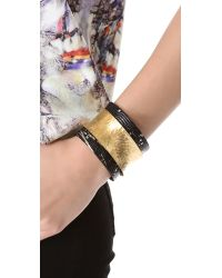 Kara Ross - Metallic Wide Skin Wrap Cuff - Lyst
