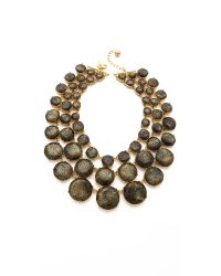 kate spade new york - Metallic Steal The Spotlight Triple Strand Necklace - Lyst
