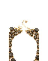 kate spade new york - Metallic Steal The Spotlight Triple Strand Necklace - Lyst