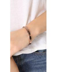 Madewell - Pink Plain Bangle Bracelet - Lyst