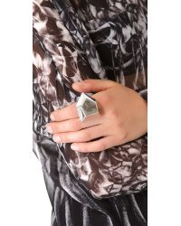 Marc By Marc Jacobs - Metallic Metal Rock Ring - Lyst