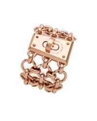 Marc By Marc Jacobs - Pink Mega Mesh Faceted Lock Bracelet - Lyst