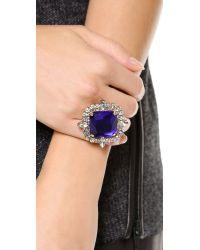 Noir Jewelry - Purple Gem Cocktail Ring - Lyst