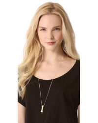 One By - Metallic Alpha Necklace - Lyst