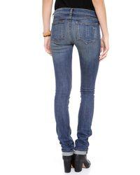 Rag & Bone   Blue Capri Mid-rise Skinny Jeans   Lyst