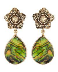 Stephen Dweck | Metallic Rock Crystal Over Abalone Pearl Earrings | Lyst