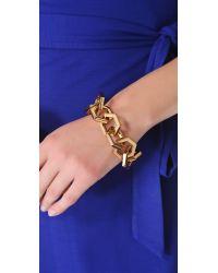 Tory Burch | Metallic Hexagon Link Bracelet | Lyst