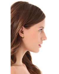 Tory Burch - Metallic Small Domed Studs - Antique Gold - Lyst