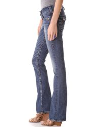 True Religion - Blue The Runway Flare Womens Legging - Lyst