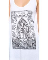 Wildfox | White Mother Winter Tank | Lyst