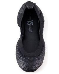 Yosi Samra - Elastic Top Line Ballet Flats - Black - Lyst