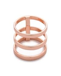 Campbell | Pink Tri Bar Ring | Lyst