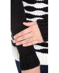 Campbell - Pink Tri Bar Ring - Lyst